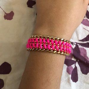 Pink & gold braided bracelet ajustable H&M